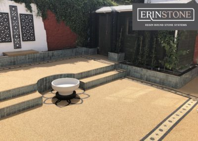 Resin Bound Stone Two Tier Garden
